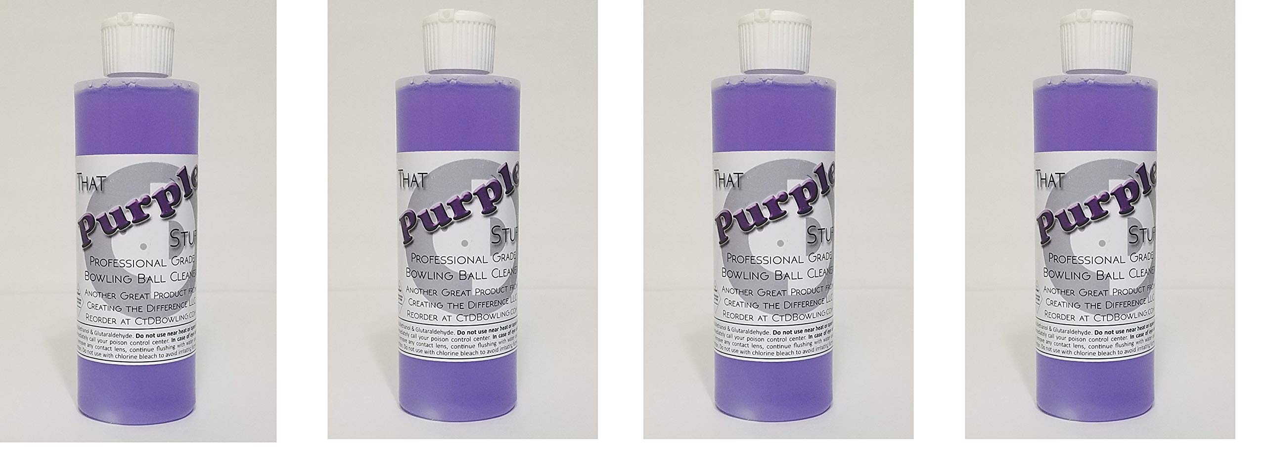 Creating the Difference That Purple Stuff Bowling Ball Cleaner | 8 oz Bottle (4-Pack)