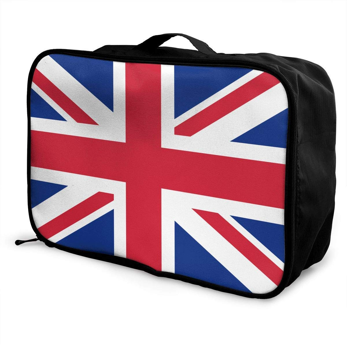 JTRVW Luggage Bags for Travel Portable Luggage Duffel Bag United Kingdom Flag Travel Bags Carry-on in Trolley Handle
