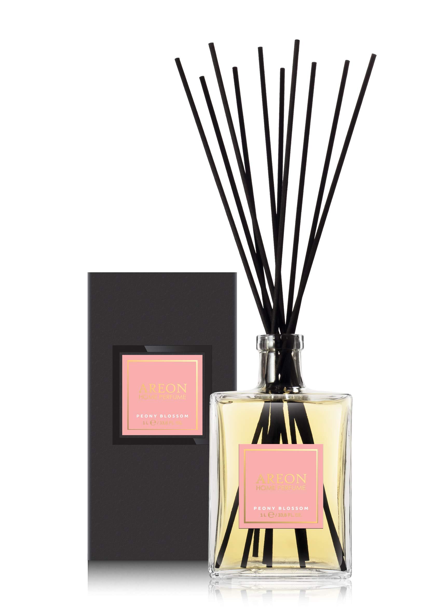 Areon Home Perfume Sticks - 1 Liter (34 OZ) Peoni Blossom