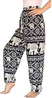 Banjamath® Women's Smocked Waist Harem Hippie Boho Yoga Palazzo Casual Pants