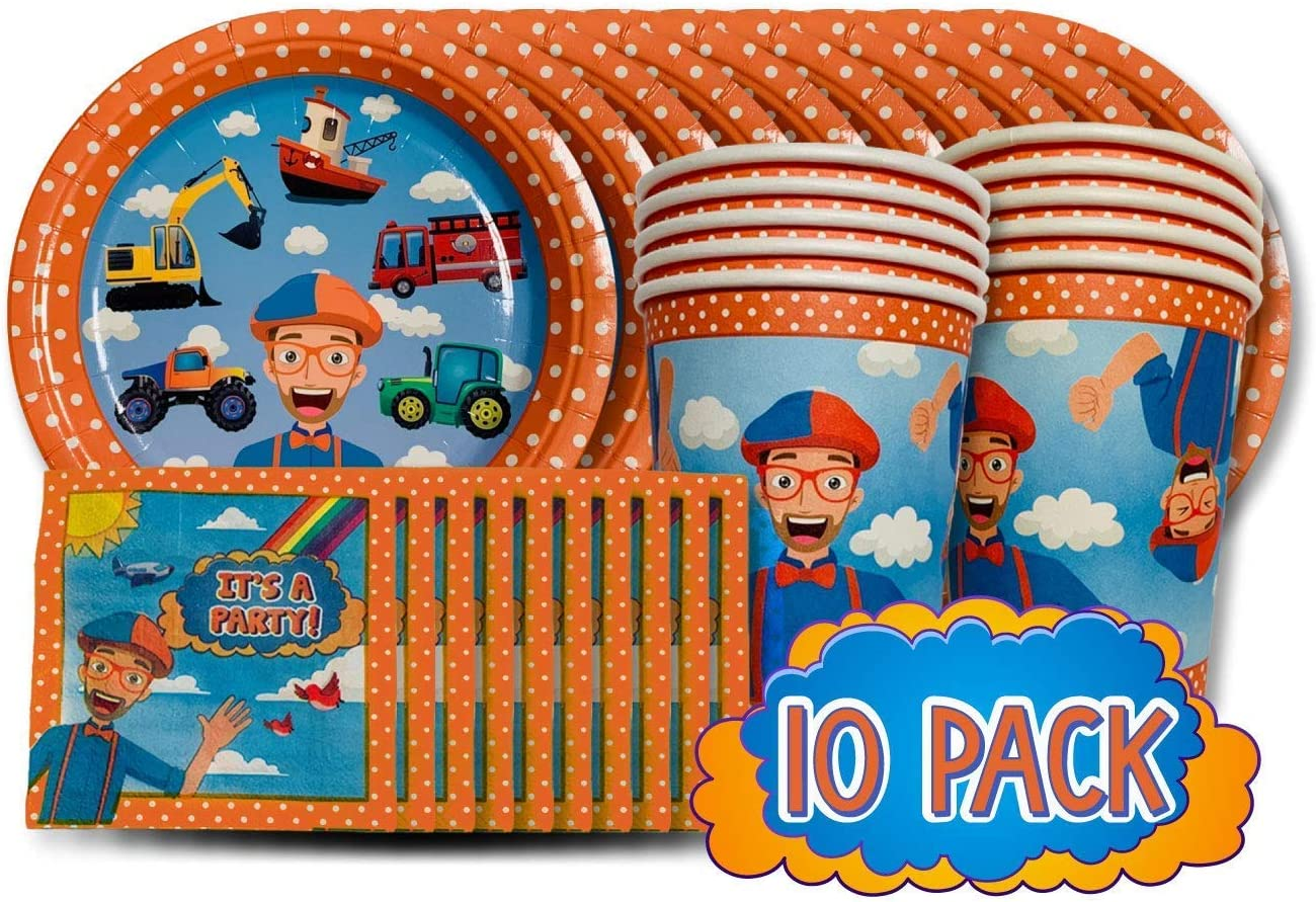 Amazon.com: Blippi Party Tableware Pack: Toys & Games