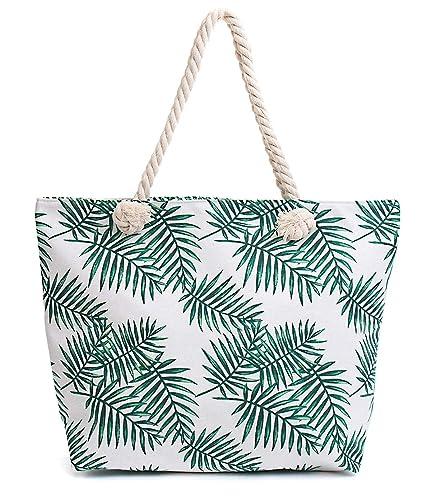 Amazon.com: Bolsas de playa impermeables de lona de tarta ...