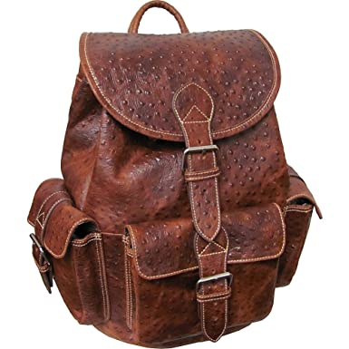 Amazon.com | AmeriLeather Vacationer Jumbo Leather Backpack (Brown ...