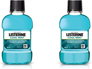 Listerine Cool Mint mouthwash Travel Size 80 Ml (Pack of 2)