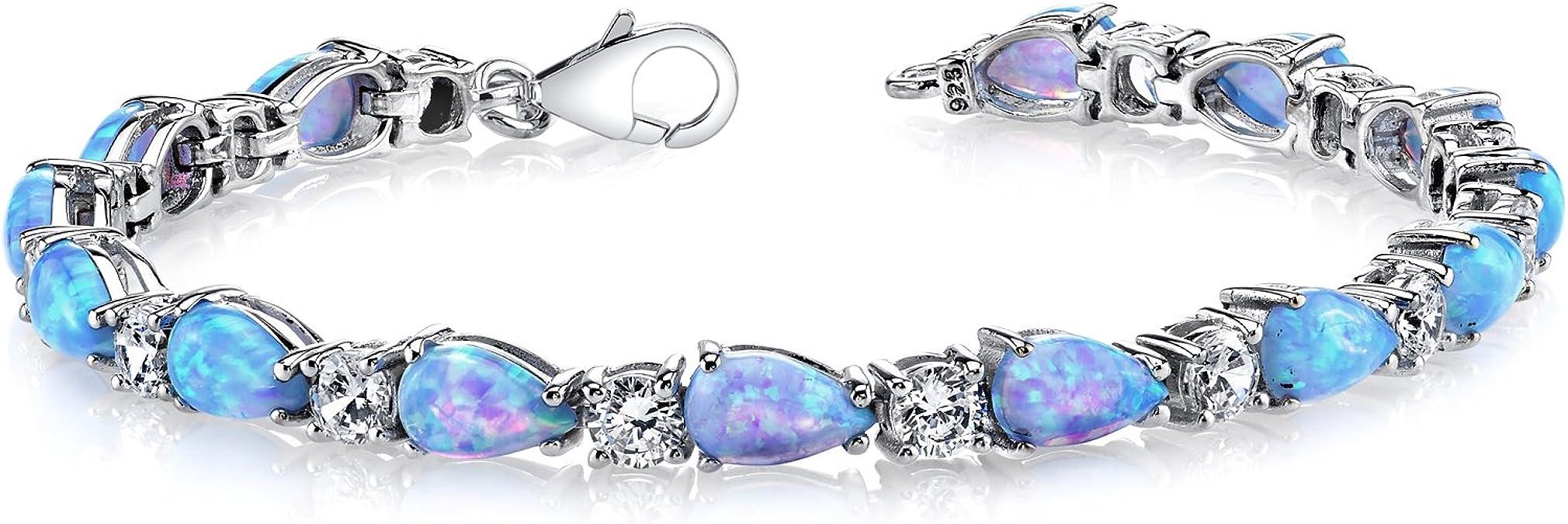Details about  /Natural Gemstone 925 Sterling Silver 6x4 mm Oval Emerald /& Iolite Snake Bracelet
