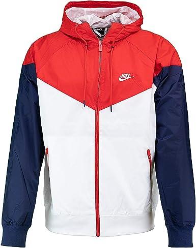 Peticionario Nublado Meseta  Nike - Chaqueta cortavientos Blanco/rojo/azul marino. M: Amazon.es: Ropa y  accesorios