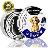 Antiparassitario per Tutti i Tipi di Cani, Antiparassitario Cani - Repellente, Misura Regolabile e Impermeabile, Smette di Mordere e Prurito