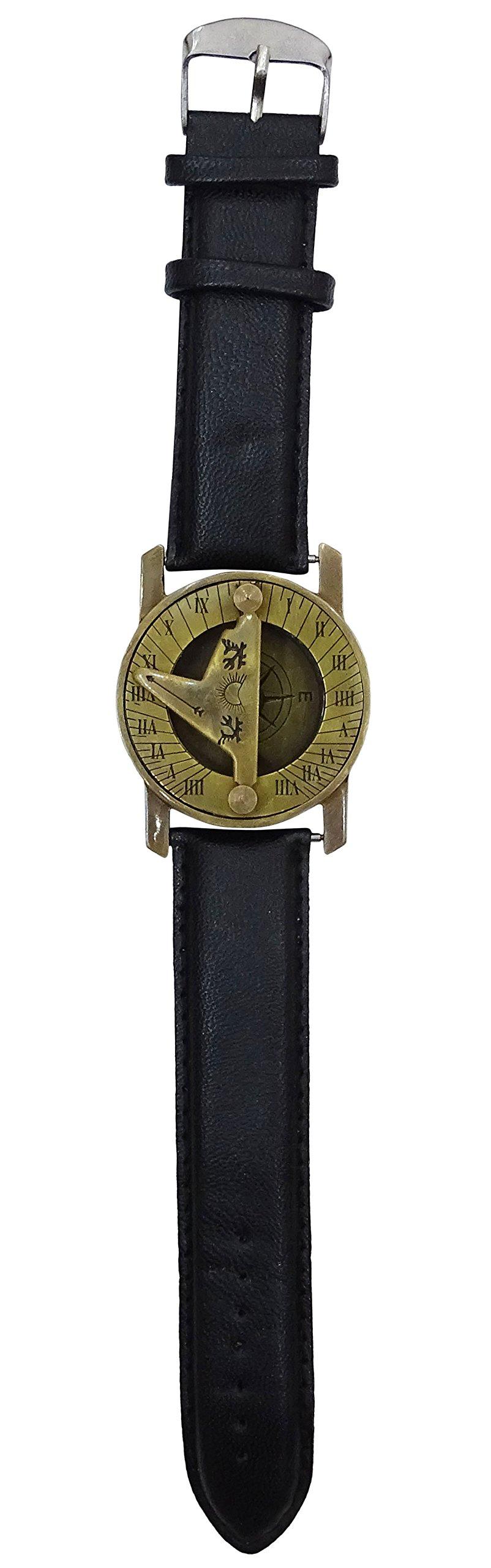 Brass Compass Wrist Nautical Magnetic Navigation Sundial Maritime Hiking Travel