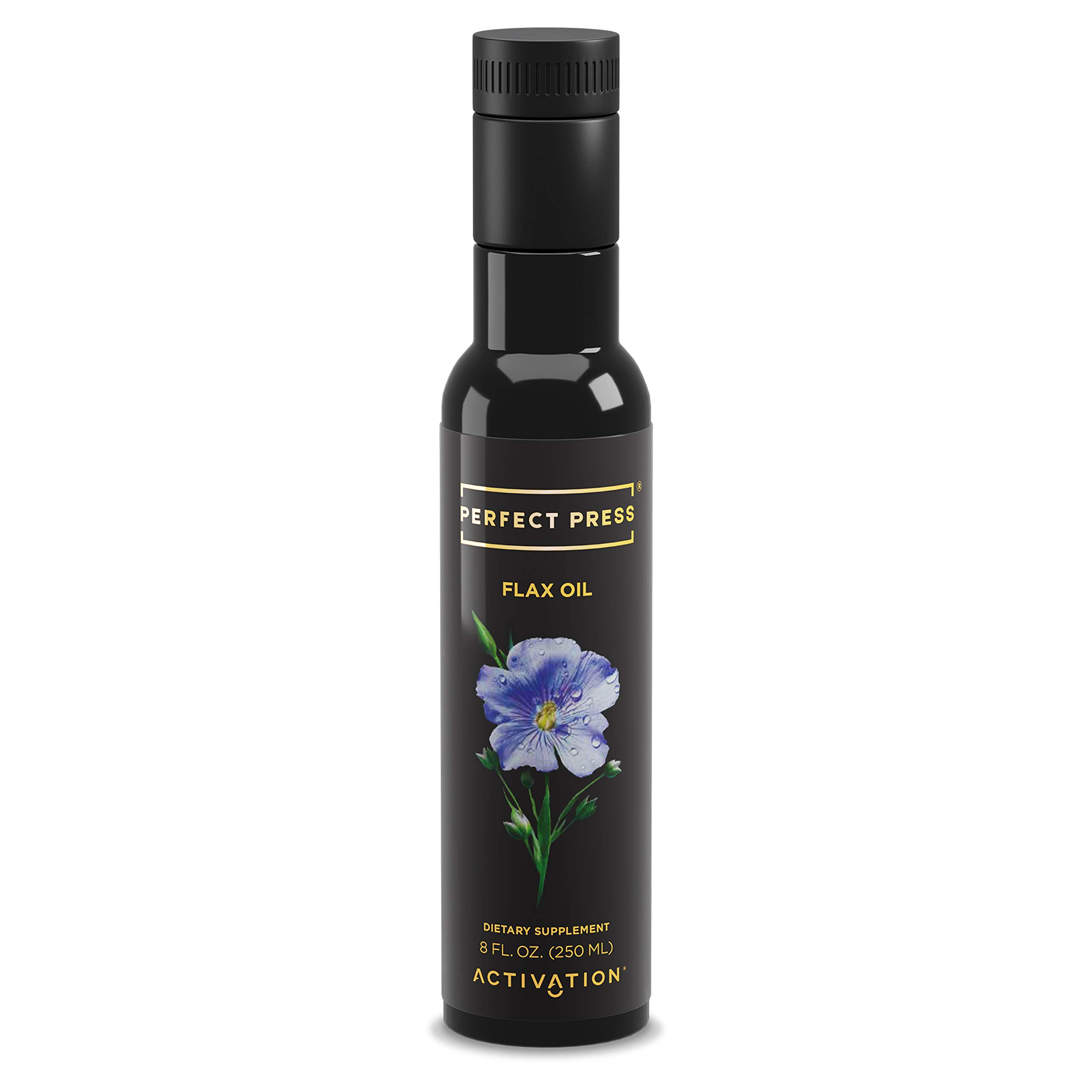 Activation Products, Perfect Press Flax Seed Oil - Great Tasting Cold Pressed Flaxseed Oil Supplement with Essential Omega 3 - 100% Vegan, Organic Flax Oil for Hair, Skin, Nails & Joints, 250ml by ACTIVATION