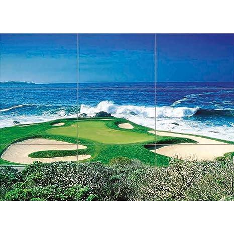 Amazon.com: Océano Golf Course Scenic gigante x1386 de ...