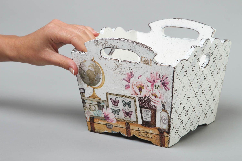 Compra Caja para bombon hecha a mano para casa cajita de madera tecnica decoupage en Amazon.es