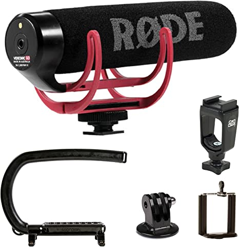 Cam Caddie Scorpion EX + Rode vmgo micrófono Bundle para GoPro y ...