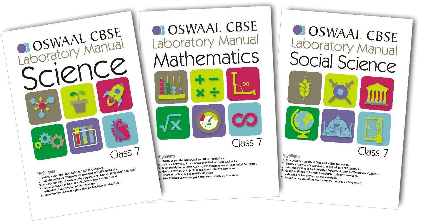 Oswaal CBSE CCE Laboratory Manual Science, Social Science & Mathematics for  Class 7: 9789351277842: Amazon.com: Books