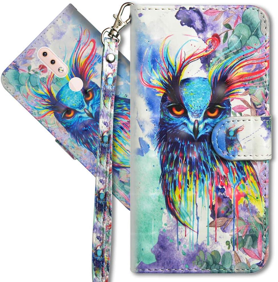 Butterfly Spring Leder Schutzh/ülle Brieftasche H/ülle Flip Case 3D Muster Cover mit Kartenfach Magnet Tasche Handyh/üllen f/ür Nokia 4.2 YX 3D MRSTER Nokia 4.2 Handytasche