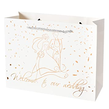 Amazon.com: Crisky Welcome to Our Wedding Gift Bags for Hotel Guests ...