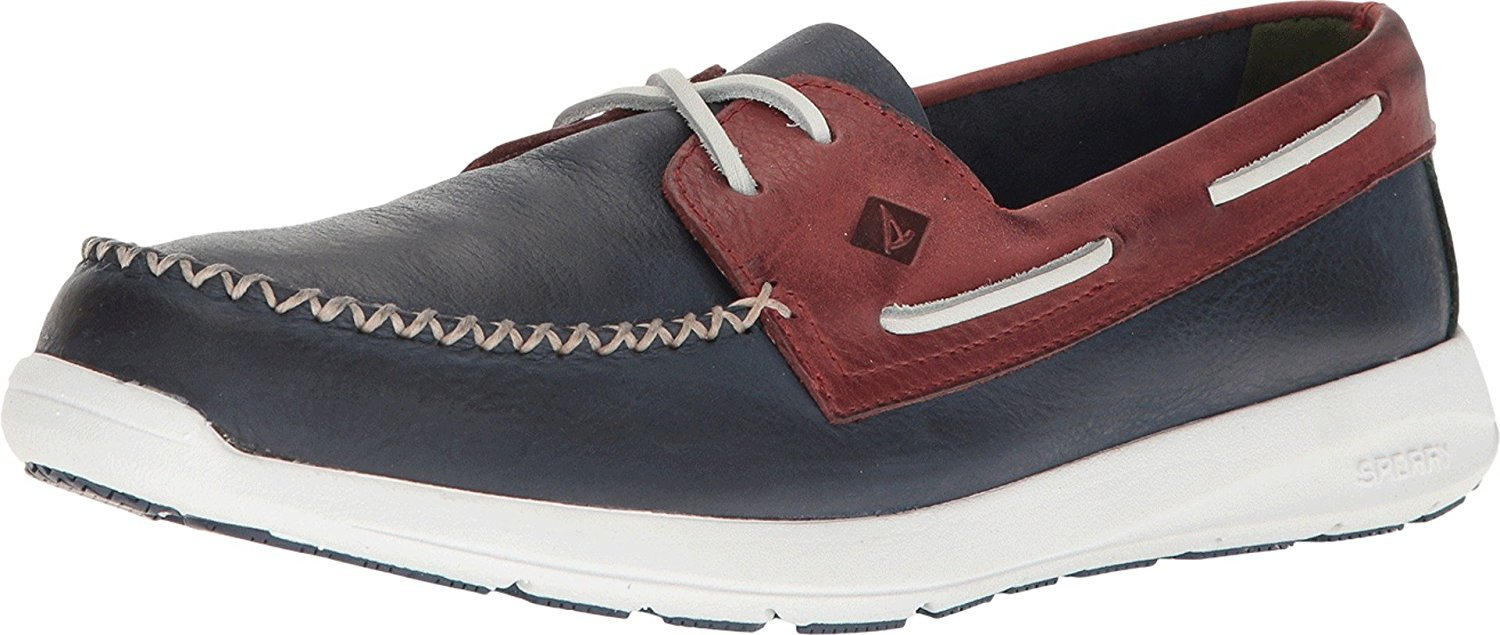 Sperry Top-Sider Mens Sojourn Boat Shoe  115 D(M) US|Navy/Red