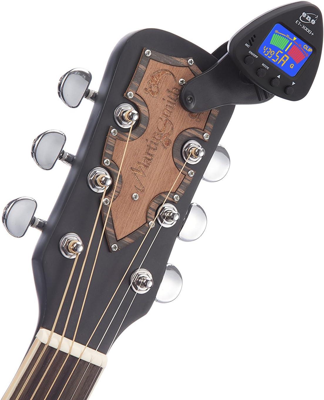 Eno ET-3000 - Afinador cromático de pinza para guitarra, bass ...