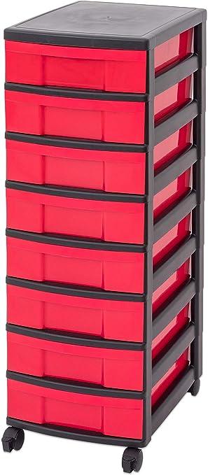 Schubladenschrank groß Schubladenbox Aufbewahrungsbox Rollwagen Rollcontainer