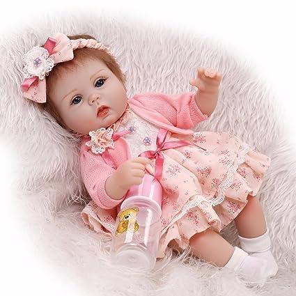 "17/"" 43cm Real Looking Lifelike Reborn Baby Doll Realistic Newborn Dolls Toddler"