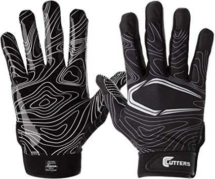 Youth /& Adult Sizes 1 Pair Receiver Gloves Ultra Sticky Grip Cutters Game Day Football Glove