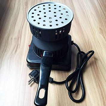 Estufa eléctrica de carbón quemador extraíble Bandeja + Pinzas espesada del carbón de leña