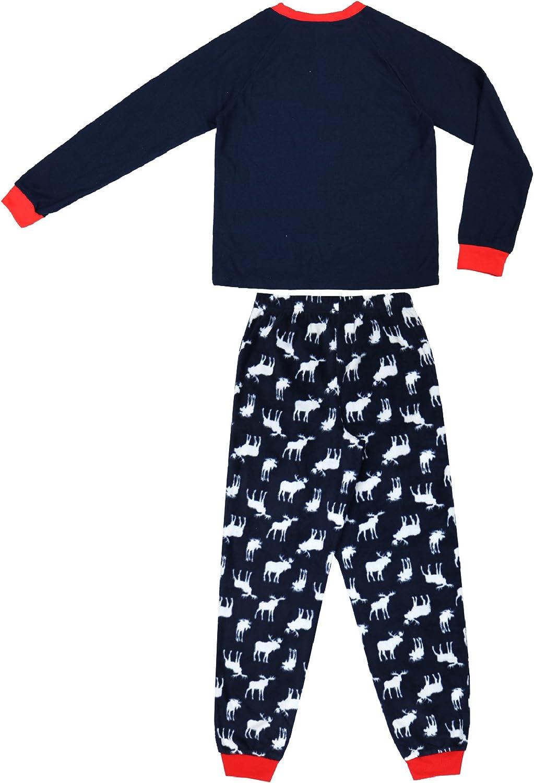 Long-Sleeve Thermal Top and Fleece Jogger Pants Boys 2-Piece Pajama Set