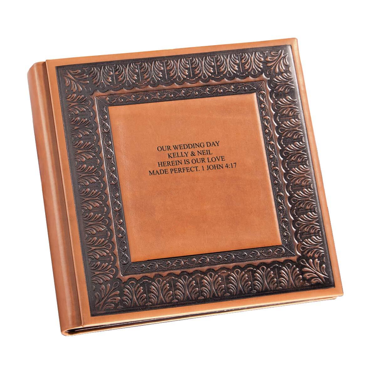 Exposures Personalized Bellini Leather Album, Customize 3 Lines