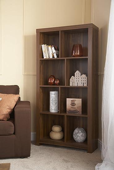 Home Source U2013 Clean Cut Dunkles Holz Ton Akazie Effekt Wohnzimmer Möbel,  Tall Shelf Unit