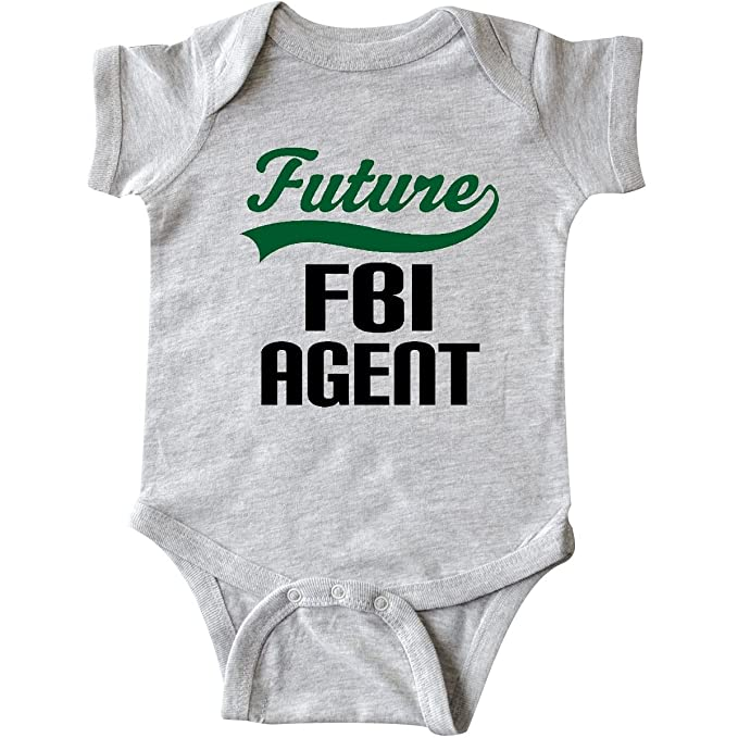 6fd1ee82c62 inktastic - Future FBI Agent Childs Infant Creeper Newborn Heather Grey  2de9f