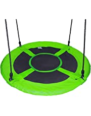 "Gaorui 100cm 40"" Tree Swing Spinner Kids Swing Seat Saucer Nest Swing Round Ring Large Tire Swing + Free Two Tree Straps – 200 KG Weight Capacity, Fully Assembled, Easy to Install"