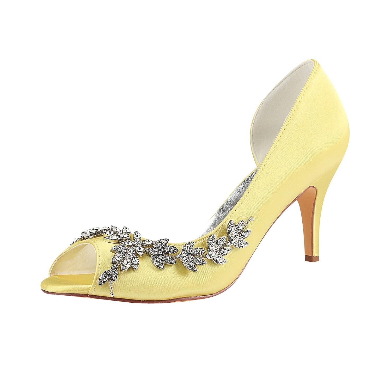 Emily Bridal Brautschuhe Deep Blue Mother Schuhe Silk Peep Toe Strass  Hochzeit Gast Schuhe High Heel Hochzeit Schuhe  Amazon.de  Schuhe    Handtaschen d225b14397