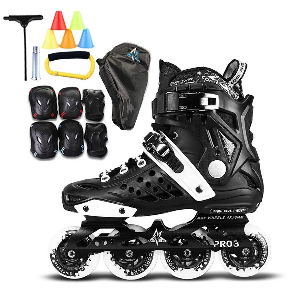 XZ15 男性と女性のためのインラインスケート、アダルトフィギュアスケートの靴専門スケート、快適なインラインスケート、35-44ヤード (Color : 黒, Size : EU 40/US 7.5/UK 6.5/JP 25cm) 黒 EU 40/US 7.5/UK 6.5/JP 25cm