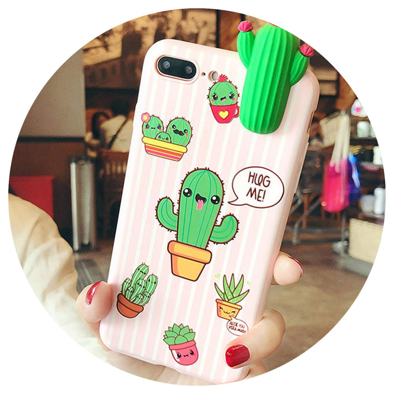 Amazon.com: 3D Cute Cartoon Cactus Flora Banana Fundas Case ...