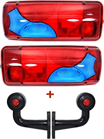Paar Rechts Links Rücklicht Lampen Für Lkw 2 Seitenmarkierungen Auto