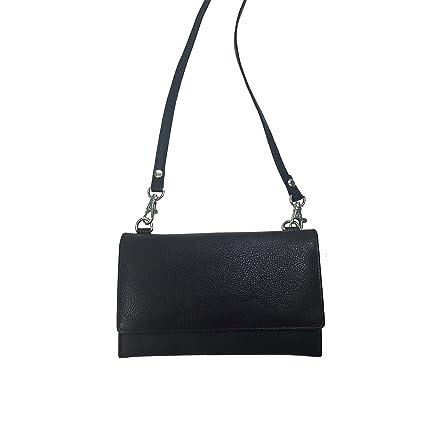 239cc38da99f Amazon.com  Pielino Women s Genuine Leather Multi-pocket Smartphone Organizer  Wallet Crossbody Bag (Black)  Sha La La