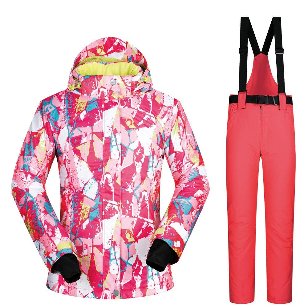 Sunbobo Giacca Giacca Giacca da Sci da Donna Tuta da Sci da Donna Tuta da Sci Invernale Traspirante, Impermeabile e Traspirante Impermeabile Antivento (Coloreee   Light verde Pants, Dimensione   L)B07L6DB4MQX-Large Watermelon rosso Pants | adottare