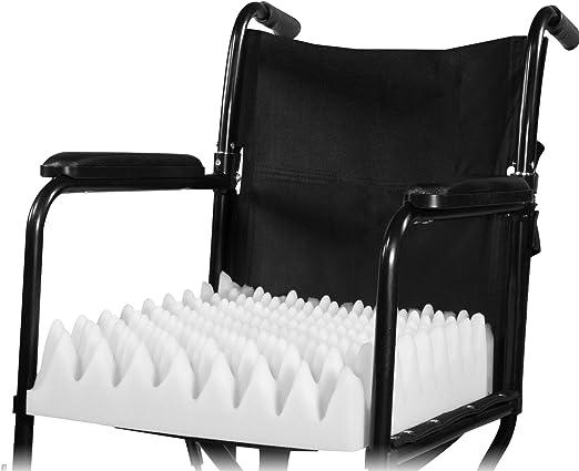 PCP Wheelchair Cushion Convoluted Foam Egg Crate, White