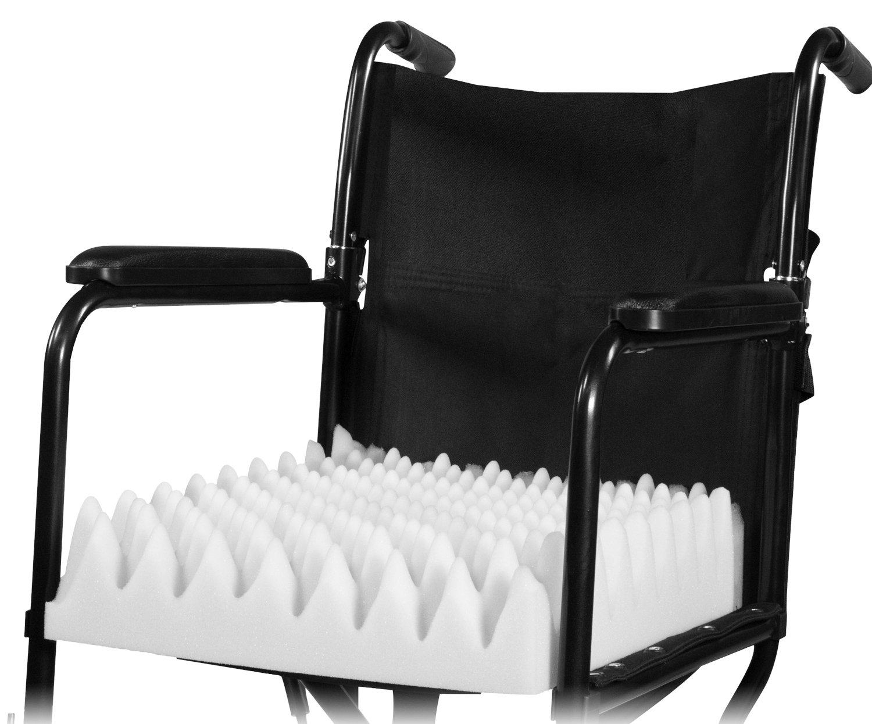 PCP Wheelchair Cushion Convoluted Foam Egg Crate, White by PCP