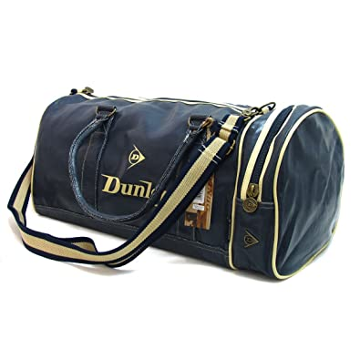 Dunlop Retro Gym Holdall Sports Weekend Barrel Shoulder Bag Navy   Amazon.co.uk  Shoes   Bags 95f2bfd593