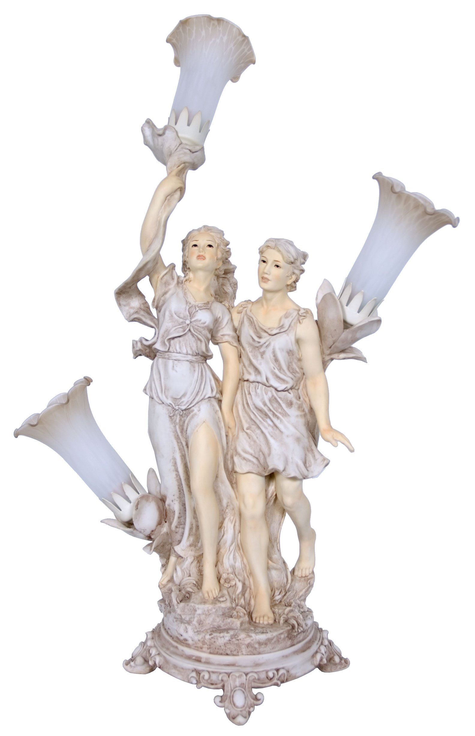 Rayes Imports K98777 Man & Woman Walking Lamp With 3 by Rayes Imports