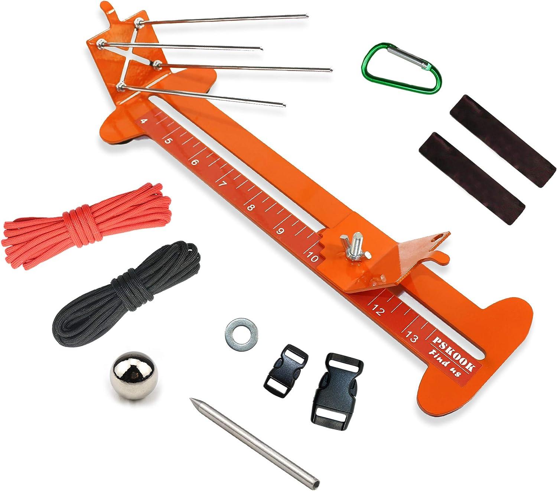 PSKOOK Monkey Fist Jig Y Pulsera Jig Kit Longitud ajustable de Metal Tejer DIY Craft Maker Herramientas 4