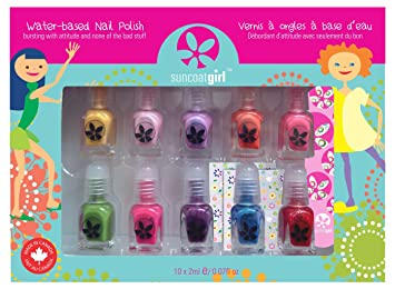 Amazon.com: Suncoat Girl - 10 Pack Mini Nail Polish Gift Set for ...