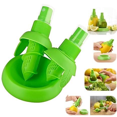 Channel Expert verde limón exprimidor de pulverizador a presión con Citrus spray pulverizador de cítricos exprimidor