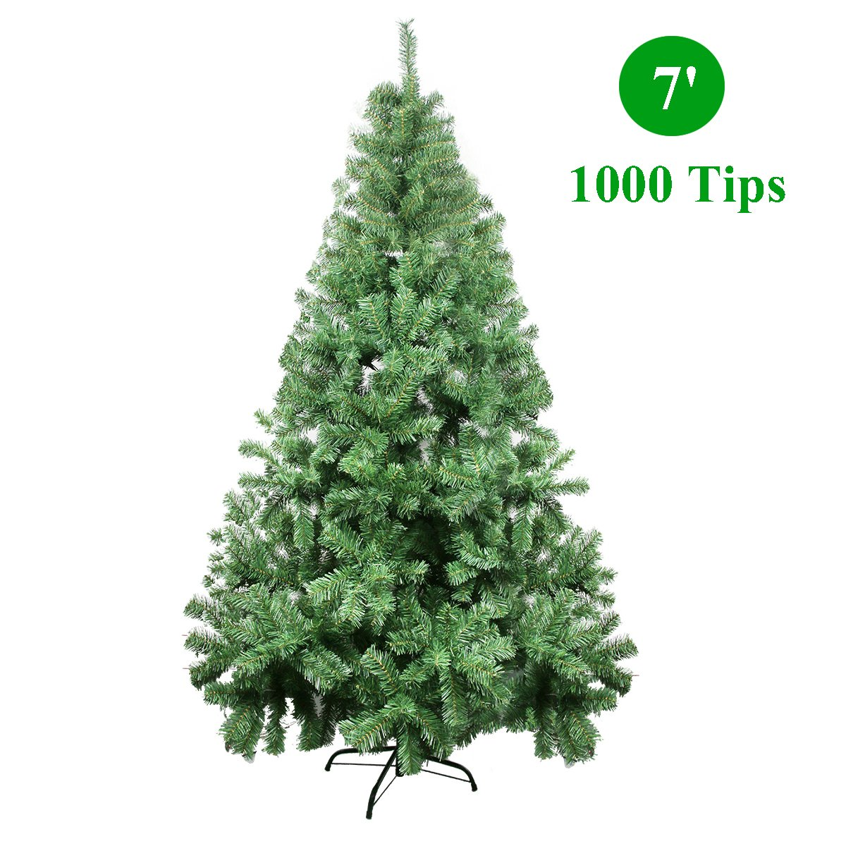 Amazon.com: CelebrationLight Christmas Tree - Xmas Tree - Artificial  Christmas Pine Trees - 1000 Branch Tips for Lush Looking - 3 Separable  Sections - Tree ...