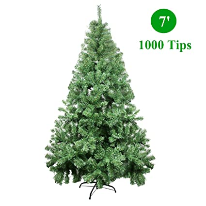 7ft artificial christmas tree 12 foot celebrationlight christmas tree xmas artificial pine trees 1000 branch tips for amazoncom