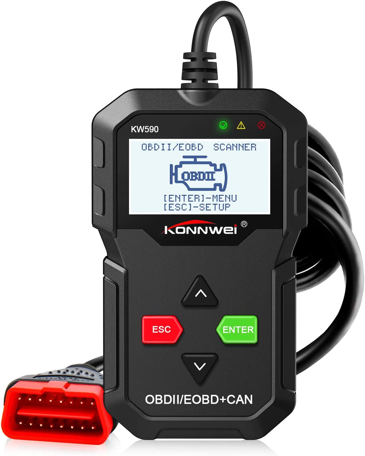 OBDII OBD2 Scanner CAN Car Auto Engine Fault Code Reader Diagnostic Tool KW590