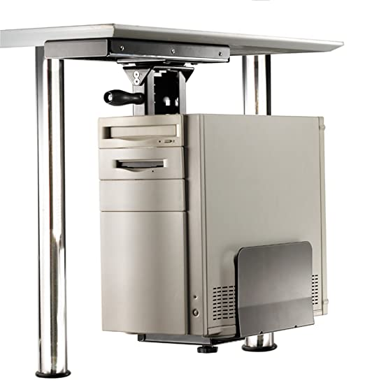 2 opinioni per ROLINE Mobiletto salvaspazio porta-PC con robusta struttura in acciacio color