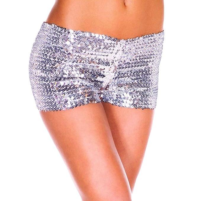 Amazon.com: Nevera - Pantalones cortos de yoga metálicos y ...