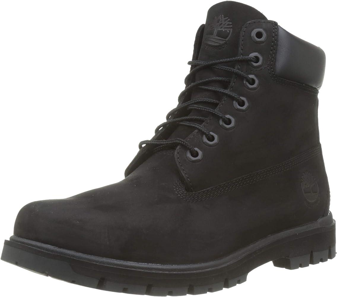 Ankle Lace-up Boots, Black Black Nubuck