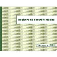 Exacompta 6618E Piqure 24/32 Contrôle Médical 60 Pages